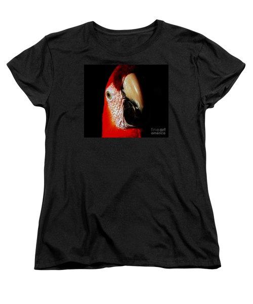 Women's T-Shirt (Standard Cut) featuring the photograph Parrot by Gunter Nezhoda