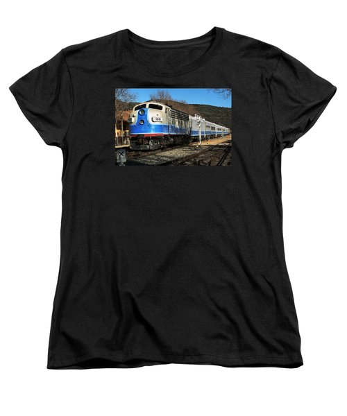 Women's T-Shirt (Standard Cut) featuring the photograph Passenger Train by Michael Gordon