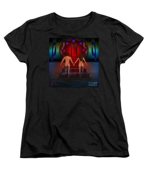 Women's T-Shirt (Standard Cut) featuring the digital art Passion Ascending by Rosa Cobos