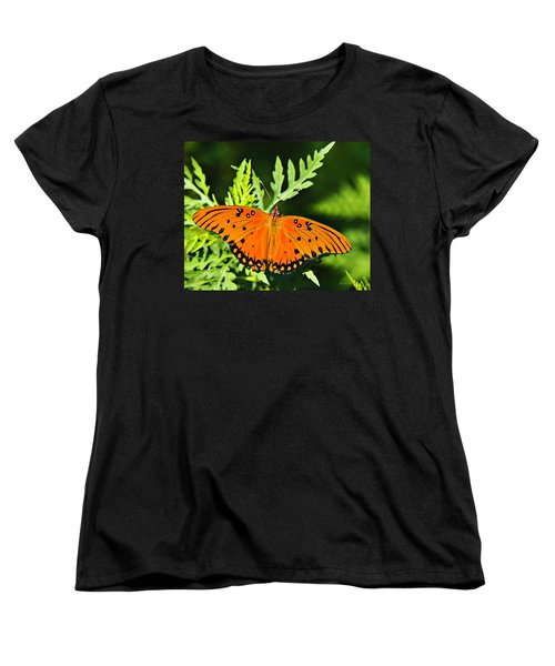 Passion Butterfly Women's T-Shirt (Standard Cut) by Walter Herrit