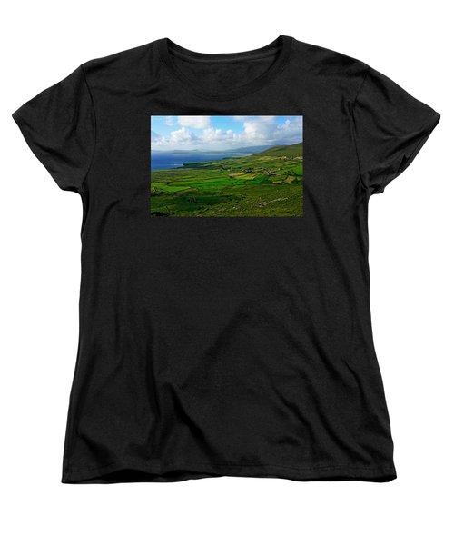 Patchwork Landscape Women's T-Shirt (Standard Cut) by Aidan Moran