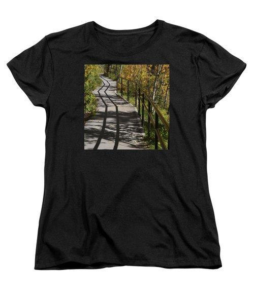 Path Shadow Women's T-Shirt (Standard Cut) by Cheryl Miller
