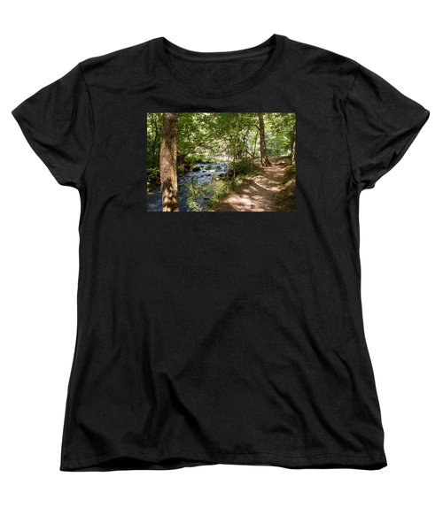 Pathway Along The Springs Women's T-Shirt (Standard Cut) by John M Bailey