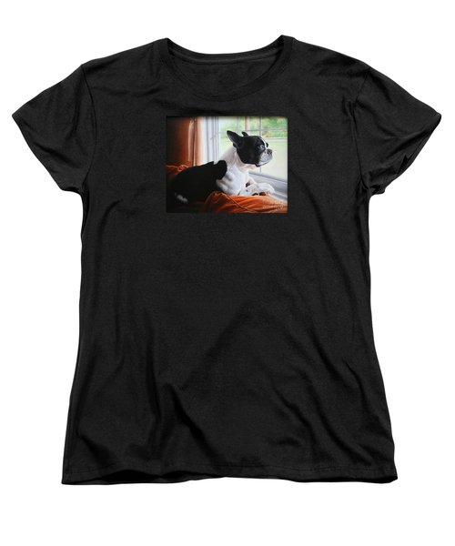 Patiently Waiting Women's T-Shirt (Standard Cut) by Mike Ivey