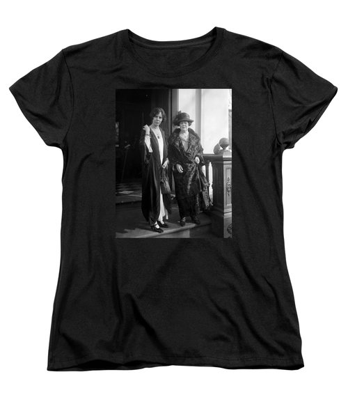 Women's T-Shirt (Standard Cut) featuring the photograph Paul & Belmont, 1923 by Granger
