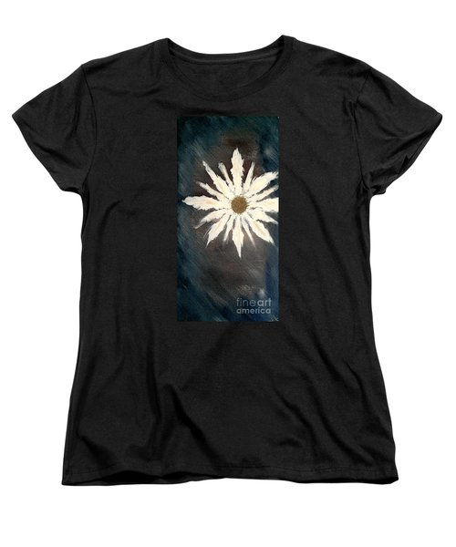 Women's T-Shirt (Standard Cut) featuring the painting Peace Flower by Jacqueline McReynolds
