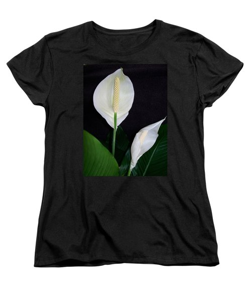 Women's T-Shirt (Standard Cut) featuring the photograph Peace Lilies by Sharon Duguay
