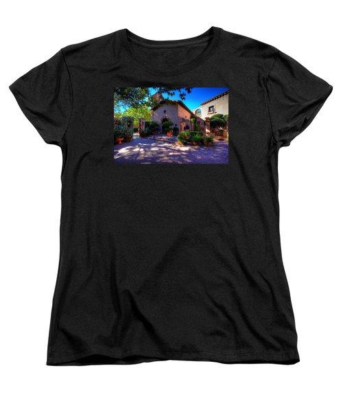 Peaceful Plaza Women's T-Shirt (Standard Cut) by Dave Files