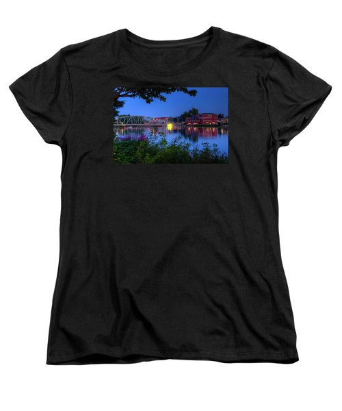 Peaceful River Women's T-Shirt (Standard Cut) by Dave Files