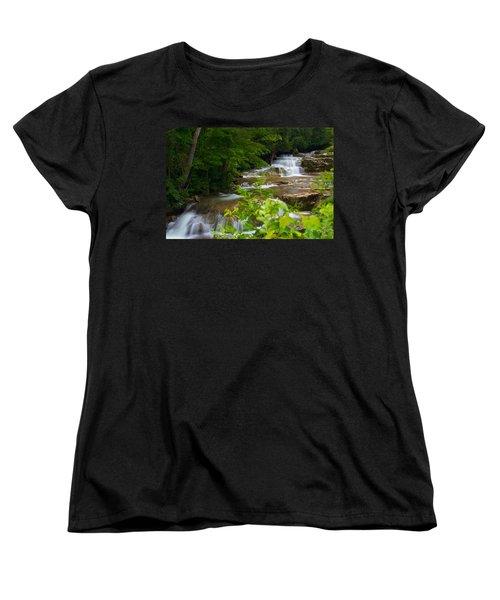 Peaceful Stockbridge Falls  Women's T-Shirt (Standard Cut) by Dave Files