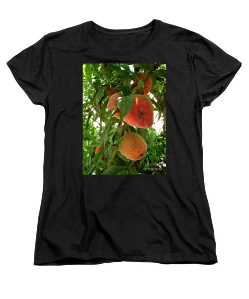 Women's T-Shirt (Standard Cut) featuring the photograph Peaches On The Tree by Kerri Mortenson