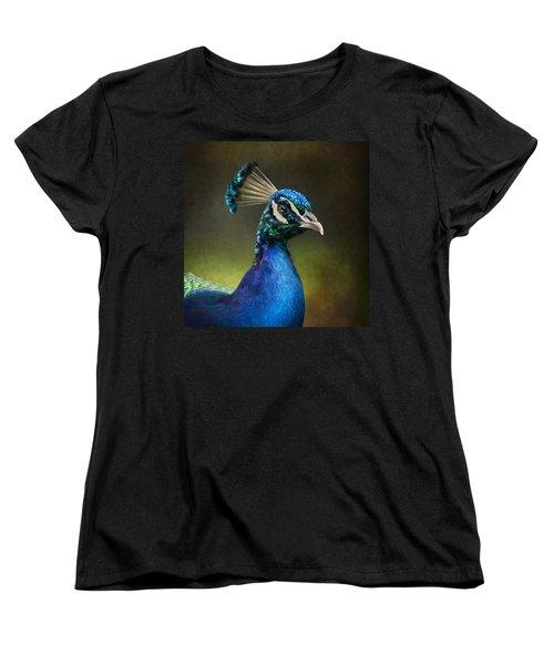 Peacock Women's T-Shirt (Standard Cut) by Ann Lauwers