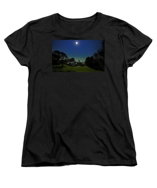 Women's T-Shirt (Standard Cut) featuring the photograph Pegasus And Moon by Greg Reed