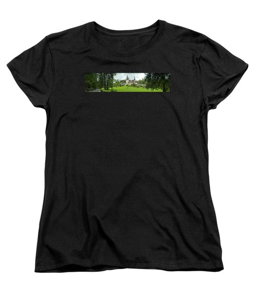 Peles Castle In The Carpathian Women's T-Shirt (Standard Cut) by Panoramic Images