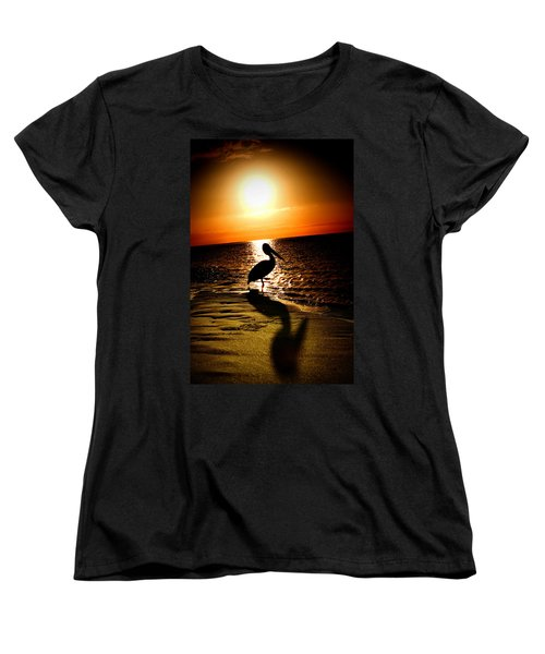 Women's T-Shirt (Standard Cut) featuring the photograph Pelican Sunrise by Yew Kwang