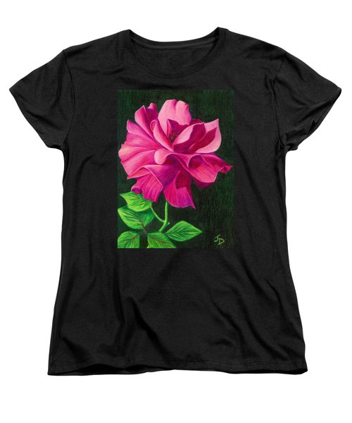 Pencil Rose Women's T-Shirt (Standard Cut)