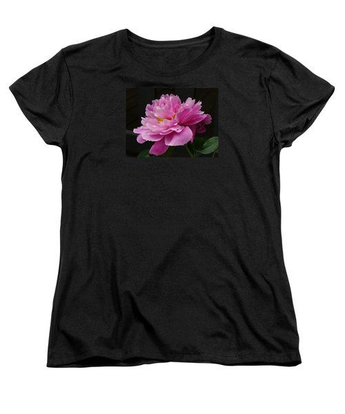 Women's T-Shirt (Standard Cut) featuring the photograph Peony Blossoms by Lingfai Leung