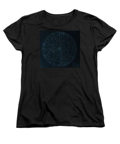 Women's T-Shirt (Standard Cut) featuring the drawing Perfect Square by Jason Padgett