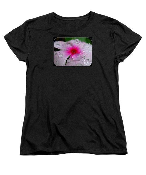 Women's T-Shirt (Standard Cut) featuring the photograph Petal Surfing by Patti Whitten