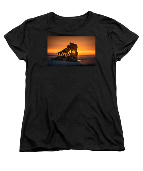 Peter Iredale Ship Women's T-Shirt (Standard Cut) by James Hammond