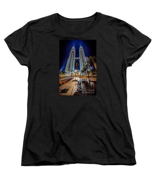 Petronas Twin Towers Women's T-Shirt (Standard Cut) by Adrian Evans