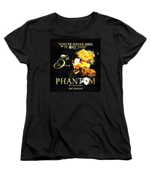 Phantom At The Venetian Women's T-Shirt (Standard Cut) by Natalie Ortiz