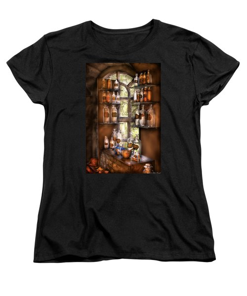 Pharmacist - Various Potions Women's T-Shirt (Standard Cut) by Mike Savad