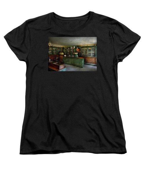 Pharmacy - The Chemist Shop  Women's T-Shirt (Standard Cut) by Mike Savad