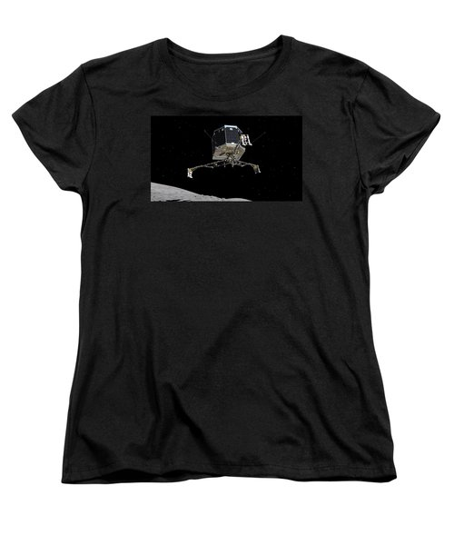 Women's T-Shirt (Standard Cut) featuring the photograph Philae Lander Descending To Comet 67pc-g by Science Source