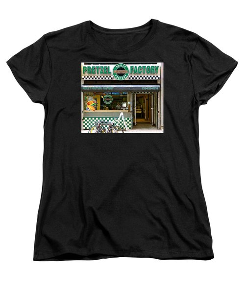 Philly Pretzel Factory Women's T-Shirt (Standard Cut) by Ira Shander
