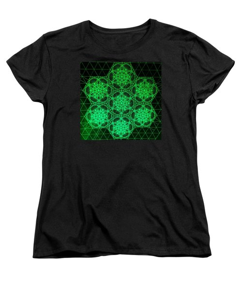 Women's T-Shirt (Standard Cut) featuring the drawing Photon Interference Fractal by Jason Padgett