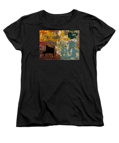 Piano Concerto Women's T-Shirt (Standard Cut) by Carmen Guedez