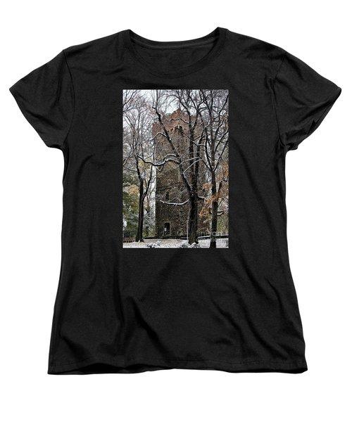Piastowska Tower In Cieszyn Women's T-Shirt (Standard Cut) by Mariola Bitner