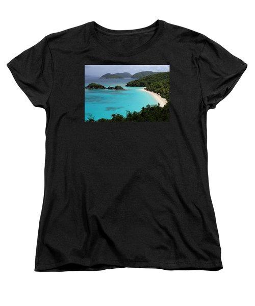 Piece Of Paradise Women's T-Shirt (Standard Cut) by Fiona Kennard