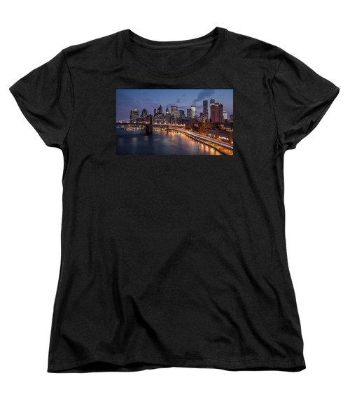 Women's T-Shirt (Standard Cut) featuring the photograph Piercing Manhattan by Mihai Andritoiu