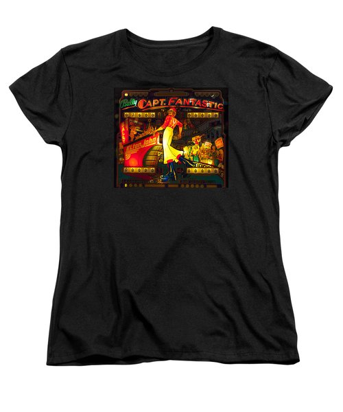 Pinball Machine Capt. Fantastic Women's T-Shirt (Standard Cut) by Terry DeLuco