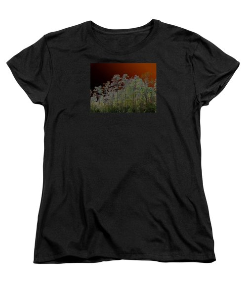 Women's T-Shirt (Standard Cut) featuring the photograph Pine Forest by Connie Fox