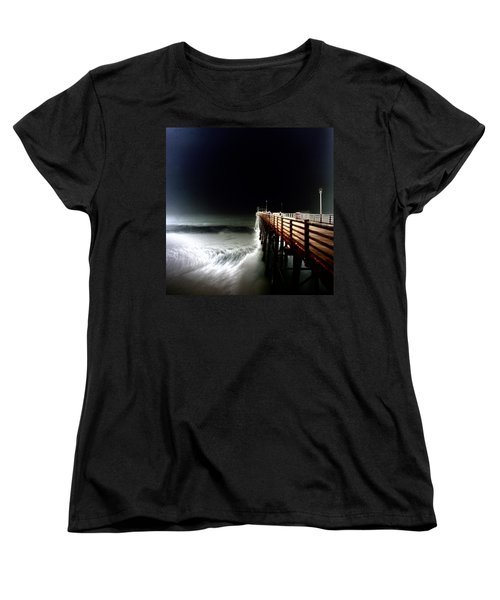 Pinhole Oceanside Pier Women's T-Shirt (Standard Cut) by Hugh Smith