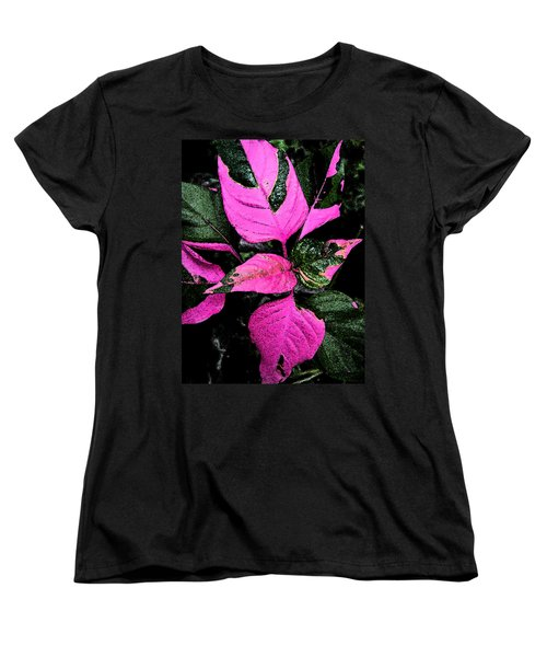 Women's T-Shirt (Standard Cut) featuring the photograph Pink And Green by Aimee L Maher Photography and Art Visit ALMGallerydotcom