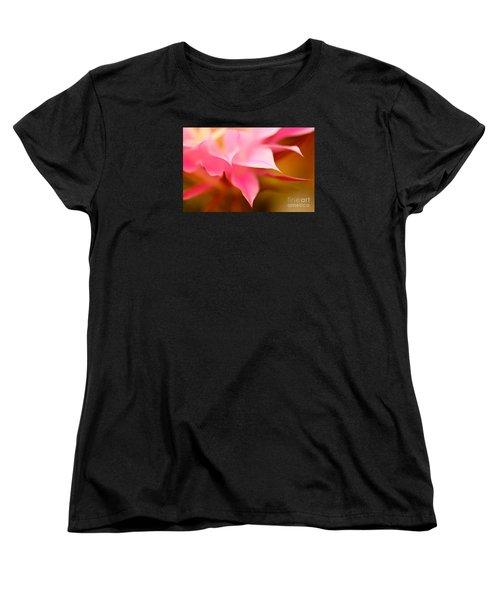 Pink Cactus Flower Abstract Women's T-Shirt (Standard Cut)