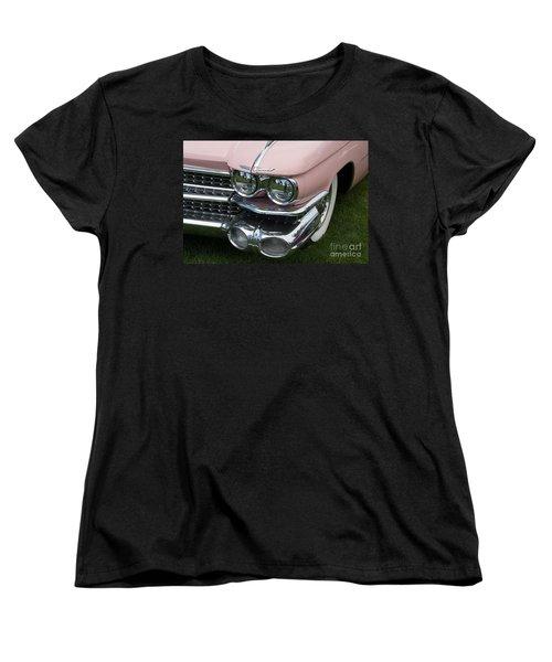 Women's T-Shirt (Standard Cut) featuring the photograph Pink Caddy by Gunter Nezhoda