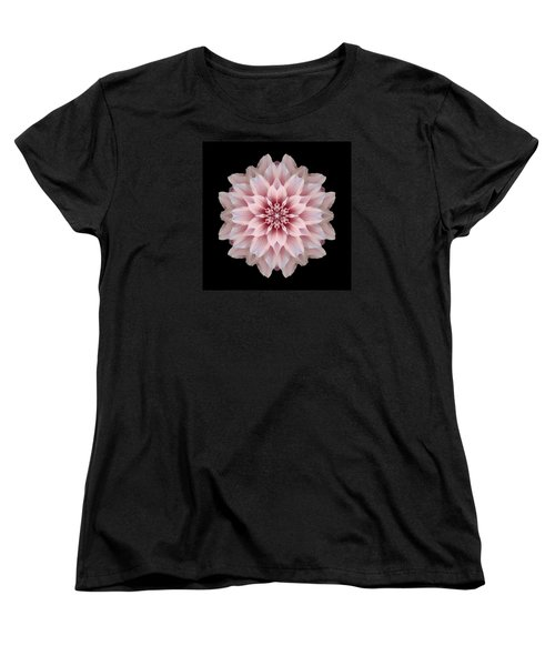 Pink Dahlia Flower Mandala Women's T-Shirt (Standard Cut) by David J Bookbinder