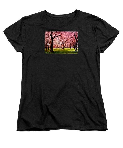 Pink Forest Women's T-Shirt (Standard Cut) by Patti Whitten