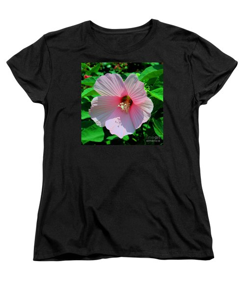 Pink Hibiscus Women's T-Shirt (Standard Cut) by Luther Fine Art