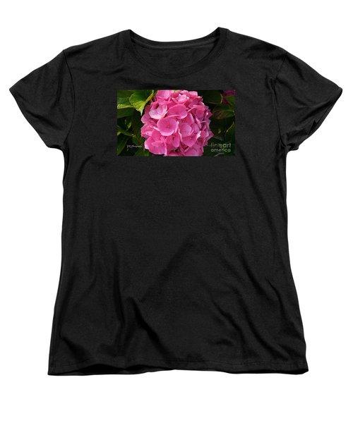 Women's T-Shirt (Standard Cut) featuring the photograph Blushing Rose by Jeannie Rhode
