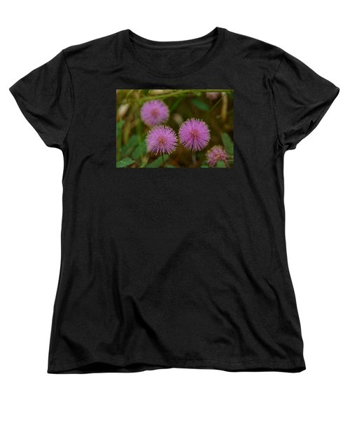Pink Mimosa Women's T-Shirt (Standard Cut) by Kim Pate