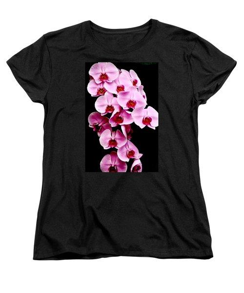 Pink Orchid Women's T-Shirt (Standard Cut) by Menachem Ganon