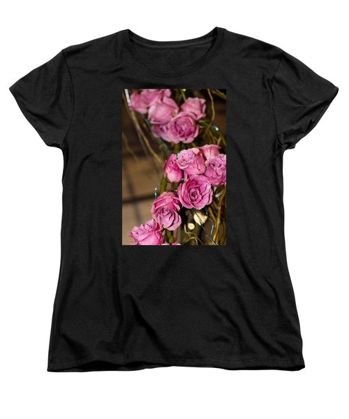 Pink Roses Women's T-Shirt (Standard Cut) by Patrice Zinck