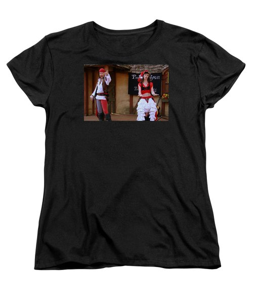 Pirate Shantyman And Bonnie Lass Women's T-Shirt (Standard Cut)