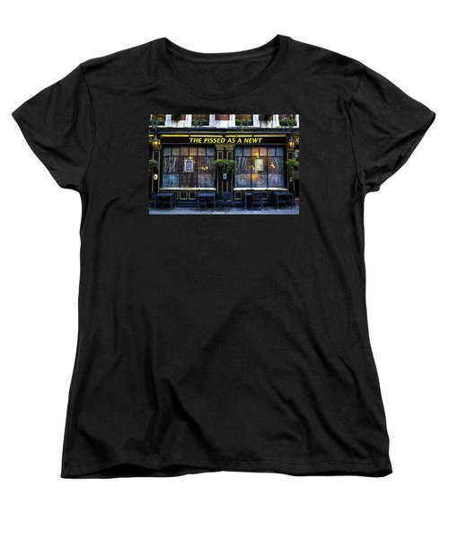 Pissed As A Newt Pub  Women's T-Shirt (Standard Cut) by David Pyatt